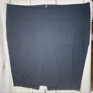 NEWish Torrid pencil skirt pinstriped black 24